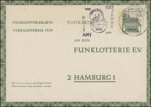 Funklotterie FP 8 Bauwerke Lorsch, Werbe-O 100 Jahre Postamt LEVERKUSEN 15.4.69