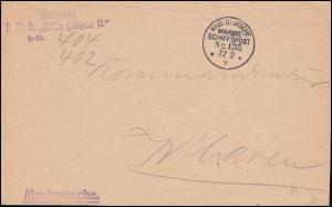 DEUTSCHE MARINE-SCHIFFSPOST No 135 - 22.2.1916 SMS Kaiser Wilhelm II Marinesache