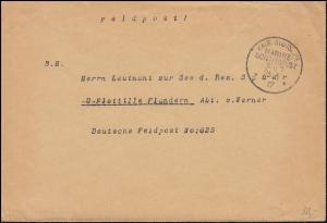 DEUTSCHE MARINE-SCHIFFSPOST No 7 - 25.5.1917 SMS Bayern als Feldpost an FP 825