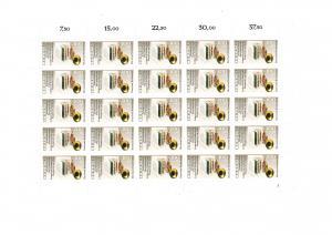 1415 Literaturausstellung IPHLA, kompletter 25er-Bogen mit FN 1, postfrisch **