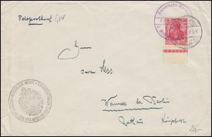 Marinefeldpost mit Frankatur BS 2. Matrosenregiment 6.7.1916 (?) nach Wannsee