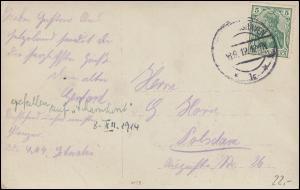 Schiffspost von der SMS Schwaben, WILHELMSHAVEN EF 8.9.1912 auf AK SMS Kaiser