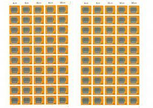 778 Rechenmaschine, komplette 50er-Bögen mit FN 1 und FN 2, beide **