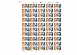 1154 Tag der Briefmarke im kompletten 50er-Bogen mit PLF I, Feld 42, **