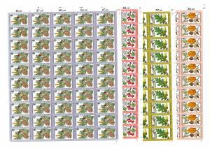 1024-1027 Blätter, Blüten und Früchte des Waldes, Bogen-Satz mit FN 1 **