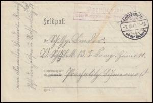 Landpost Dornhausen über ROTHENBURG ob der Tauber 2 - 2.10.42 auf Feldpostbrief