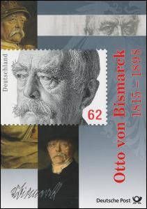 3145 Otto von Bismarck - Erinnerungsblatt der Post EB 3/2015