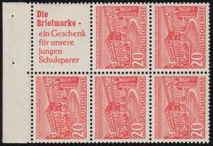 HBl. 5 aus MH 2 Berliner Bauten - mit PLF 49 XIII (TM 13), postfrisch **