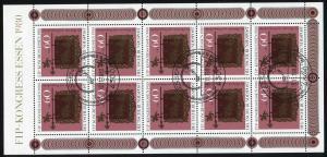 1065 Kleinbogen FIP-Kongreß Essen 1980, SSt Essen Messe-Symbol 19.11.1980