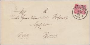 41 Adler 10 PFENNIG EF Brief Einkreis-O BERLIN S.W.12 a - 4.4.84 nach Bornim