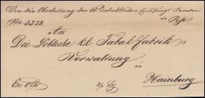 Ungarn Vorphilatelie Brief aus PESTH vom 23.12.1847 nach HAINBURG 26.12.