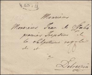 Ungarn Vorphilatelie Brief aus PESTH nach DEBREZIN / DEBRECZIN, um 1836