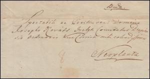 Ungarn Vorphilatelie Halbportobrief aus Buda vom 14.7.1794 nach Neoplantie
