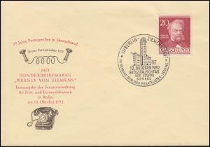 97 Männer Berlins 20 Pf. Werner von Siemens auf amtlichem FDC (e) 12.10.1952