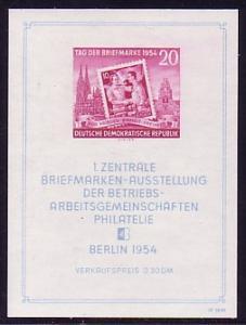 Block 10XII Philatelie-Ausstellung Berlin 1954 mit WZ XII, postfrisch / ** / MNH