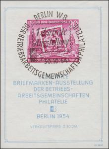 Block 10XII Philatelie-Ausstellung Berlin 1954 mit WZ XII, ESST Berlin 30.10.54