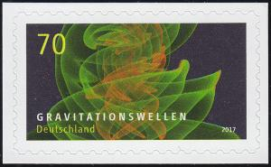 3356 Astrophysik Gravitationswellen, selbstklebend auf neutraler Folie, **