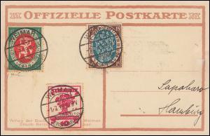 107-110 Nationalversammlung, Satz auf passender Sonder-PK, ET-O WEIMAR 1.7.1919