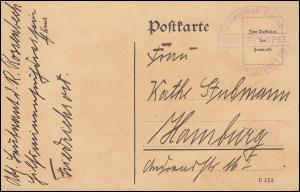 Marinefeldpost BS Kaiserliche Marine Hilfsminensuchdivision I. Kiel (um 1916/17)