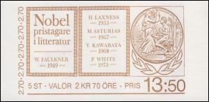 Markenheftchen 110 Nobelpreisträger für Literatur, **