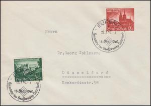 748-749 Eupen und Malmedy auf FDC mit ESSt EUPEN 25.7.1940