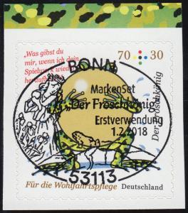 3364 Grimms Märchen: Der Froschkönig, selbstklebend aus MH 108, EV-O Bonn