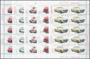 2289-2293 Wofa 2002 Oldtimer-Automobile - 10er-Bogen-Satz ** postfrisch