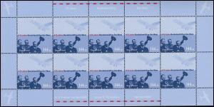 2331 Tag der Briefmarke Nordatlantikflug - 10er-Bogen ** postfrisch
