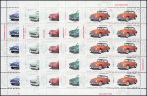 2362-2366 Wofa 2003 Oldtimer-Automobile - 10er-Bogen-Satz ** postfrisch