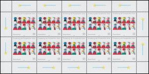 2400 Erweiterung der Europäischen Union - 10er-Bogen ** postfrisch