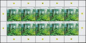 2452 Nationalpark Bayerischer Wald - 10er-Bogen ** postfrisch