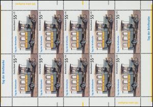 2456 Tag der Briefmarke Kraftpostomnibus - 10er-Bogen ** postfrisch