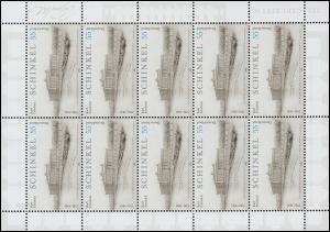 2527 Architekt und Maler Karl Friedrich Schinkel - 10er-Bogen ** postfrisch