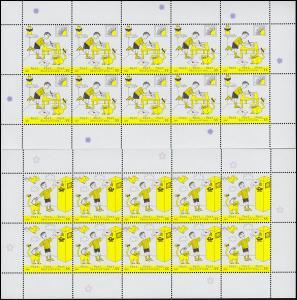 2596-2597 Post Absender und Briefkasten - 10er-Bogen-Satz ** postfrisch