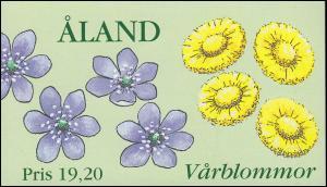 Aland Markenheftchen 5 Frühlingsblumen, postfrisch **