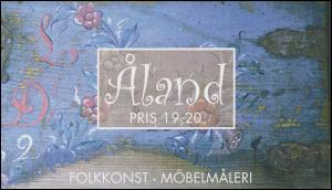 Aland Markenheftchen 7 Volkskunst Möbelmalerei, postfrisch **
