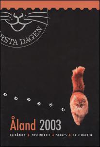 Aland-Jahresmappe 2003 Katzen, postfrisch **