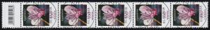 3365 Alpenveilchen 100 Cent, 5er-Streifen mit Codierfeld, ESSt Bonn