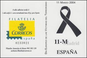 Spanien Markenheftchen 0-16 Tag der Opfer des Terrorismus, **