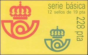 Spanien Markenheftchen 0-4 König Juan Carlos, mit 2 Heftchenblättern, **