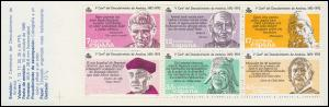 Spanien, Markenheftchen 2, Entdeckung von Amerika, 1986 ** postfrisch / MNH