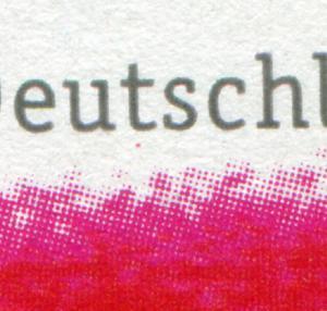 2223 Grußmarke PLF roter Punkt unter t von Deutschland, Feld 2 - 10er-Bogen **