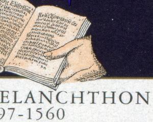 1902I Melanchthon - 10er-Bogen mit PLF I Finger und Buchstaben beschädigt **
