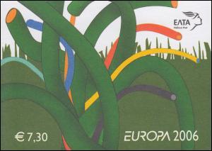 Griechenland Markenheftchen 30 Europa 2006, ** postfrisch