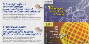 Island Markenheftchen 844-845 Europa - Berühmte Frauen, MH-Paar ** postfrisch