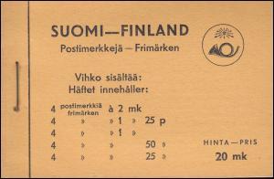 Finnland Markenheftchen Wappenlöwe auf glattem Grund 1936, ** postfrisch