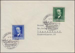 760-761 Emil von Behring-Satz auf Bf mit SSt Marburg Erinnerungsfeier 4.12.40
