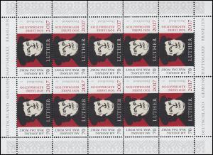 3300 Martin Luther - 500 Jahre Reformation - 10er-Bogen ** postfrisch