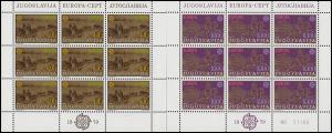 Jugoslawien 1787-1788 Europa Post- und Fernmeldewesen, Kleinbogen-Satz **