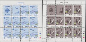 Malta 794-795 Europa Transport- und Kommunikationsmittel, Kleinbogen-Satz **